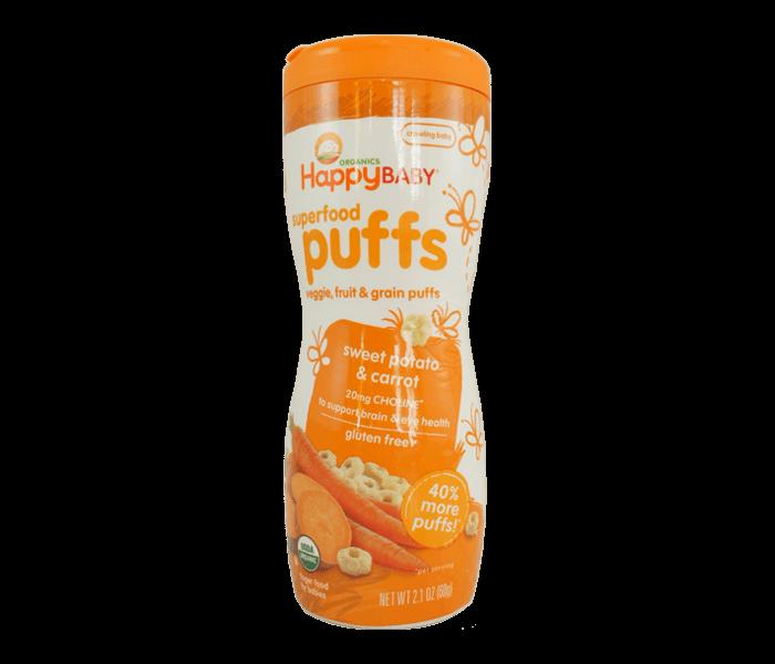 Happy Baby Superfood Puffs Ubi Wortel Bebas Gluten