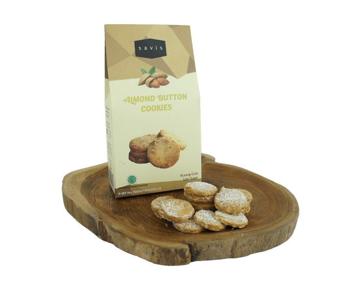 Savis Kue Kering Almond Button Less Sugar