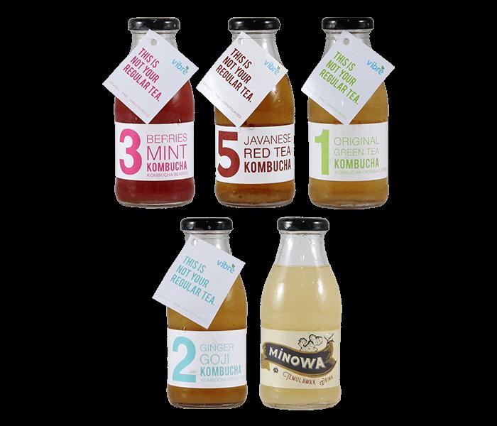 Vibre Kombucha Tea Plus Minowa Package