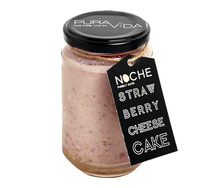 Pura Vida NOCHE Strawberry Cheesecake Overnight Oats Small