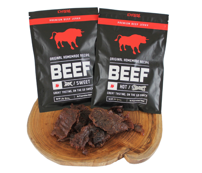 Charqi Jerky Sweet-Hot Mix Flavor Pack of 2