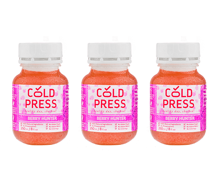 Cold Press Berry Hunter Daily Juice Pack of 3
