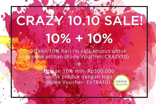 Crazy October Promo 10.10, Hanya 24 Jam!