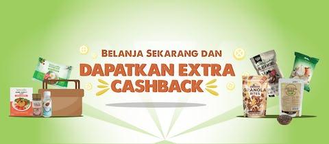 Belanja Sekarang dan Dapatkan Extra Cashback!