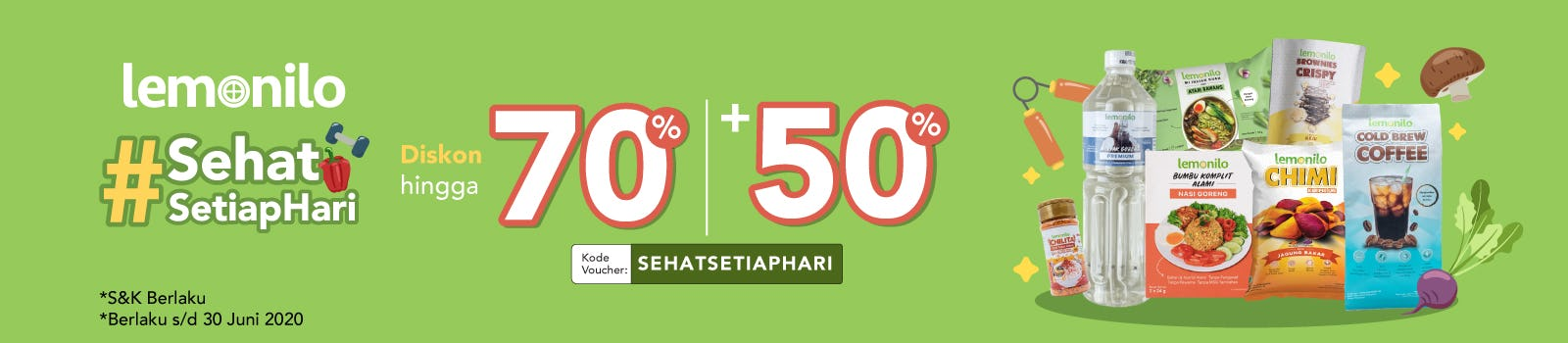 #SehatSetiapHari Up To 70% + 50% OFF