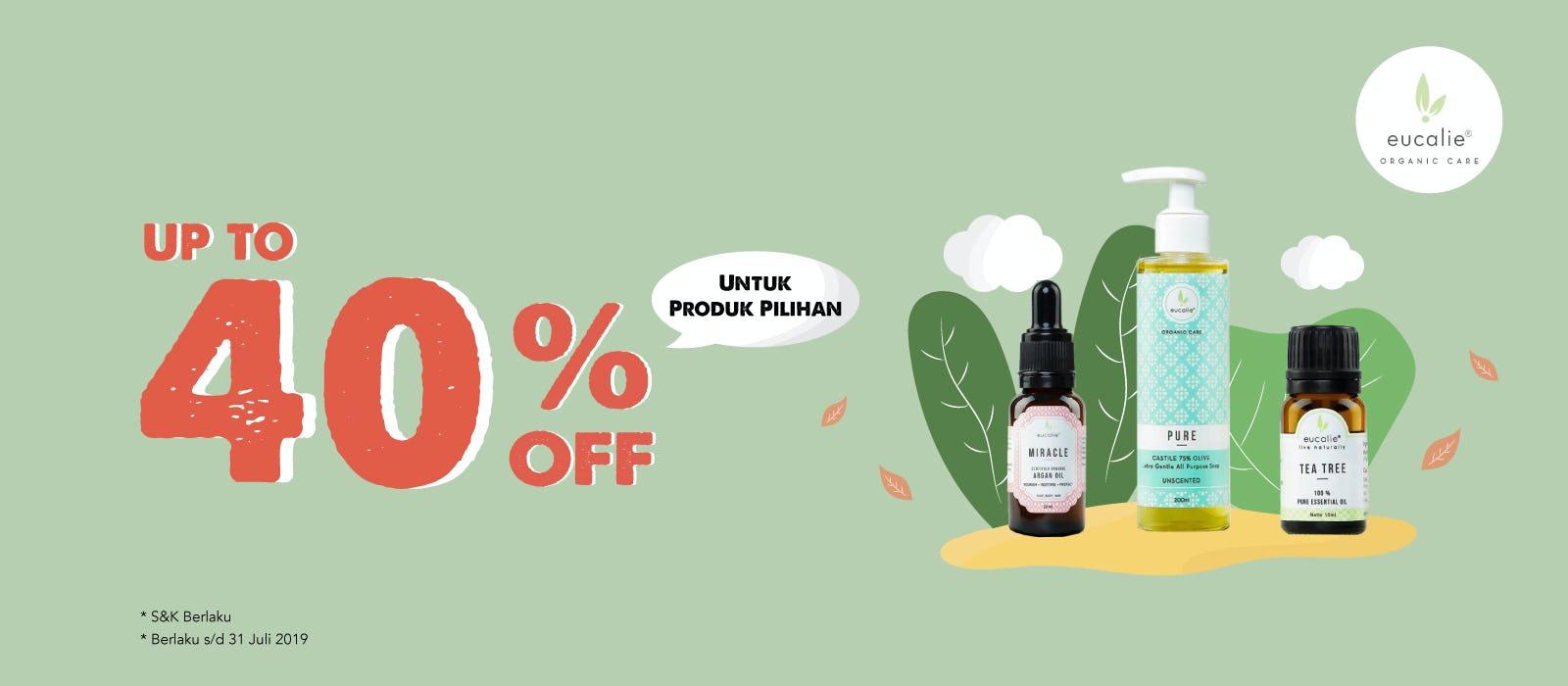Eucalie Up To 40% OFF Produk Pilihan