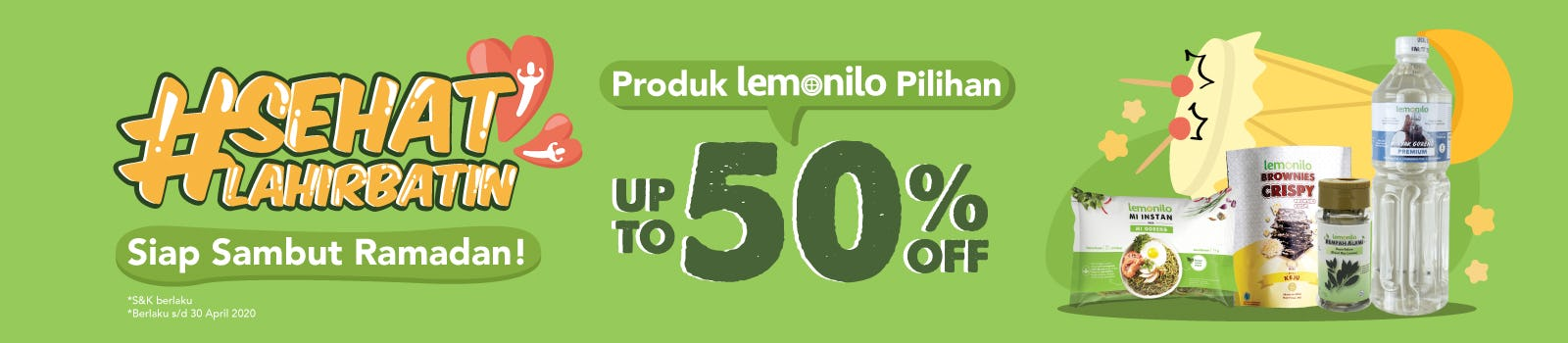 Siap Sambut Ramadan! Up To 50% OFF