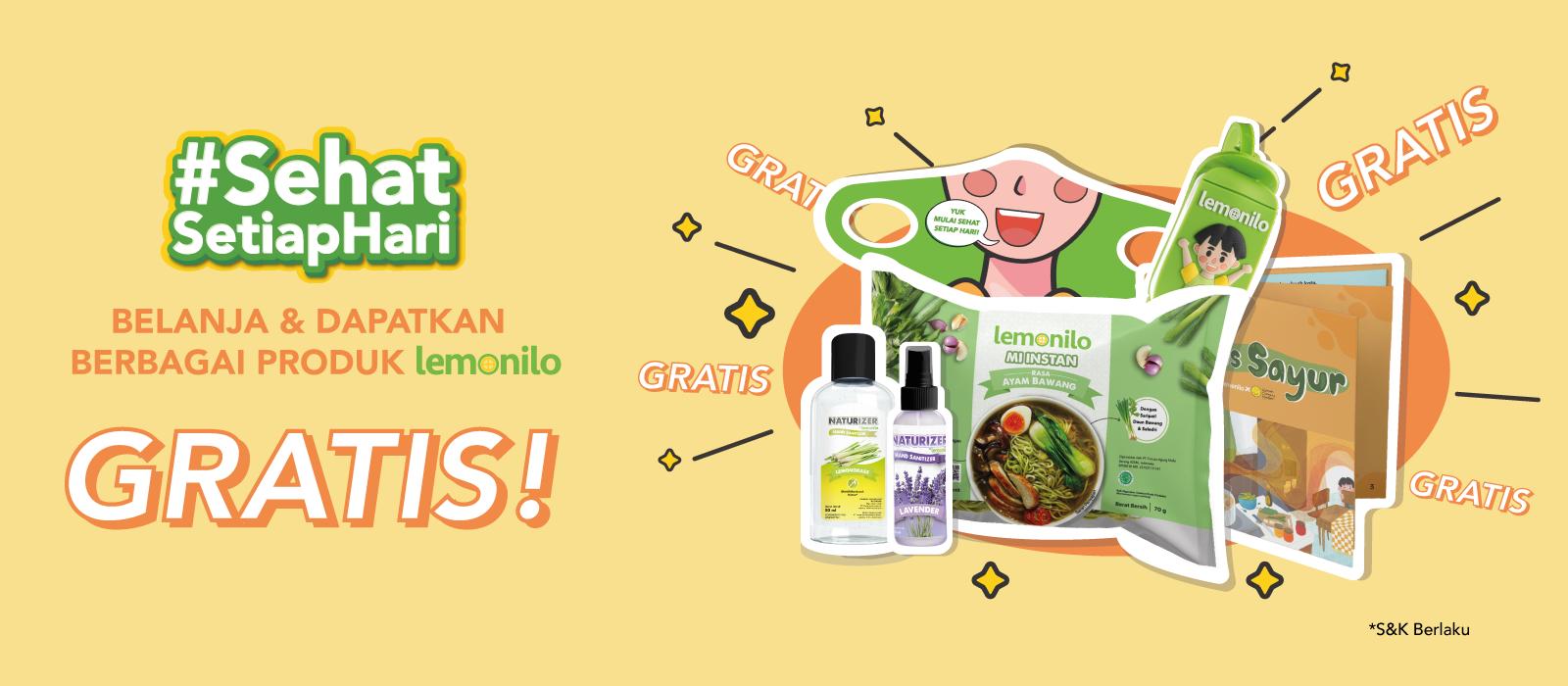Belanja dan Dapatkan Berbagai Produk Lemonilo GRATIS!