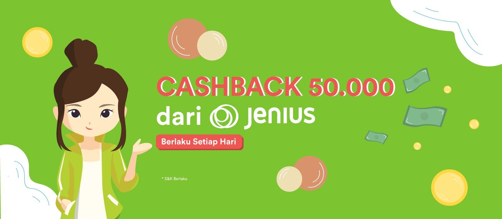 Belanja dengan Jenius Pay Dapat Cashback Rp 50.000!