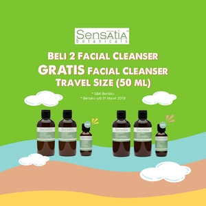 Beli 2 Facial Cleanser Sensatia Botanicals GRATIS 1 Lagi