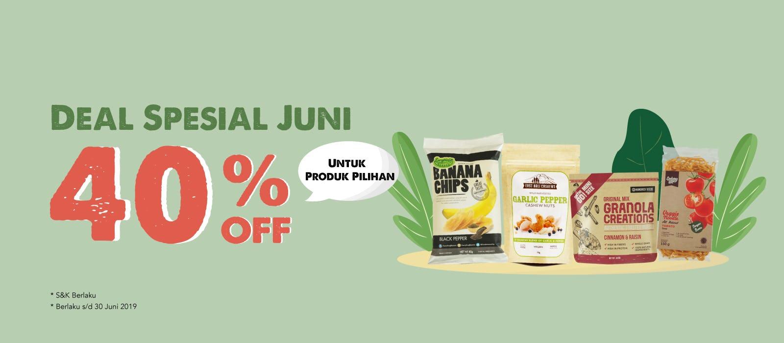 Deal Spesial Juni 40% OFF
