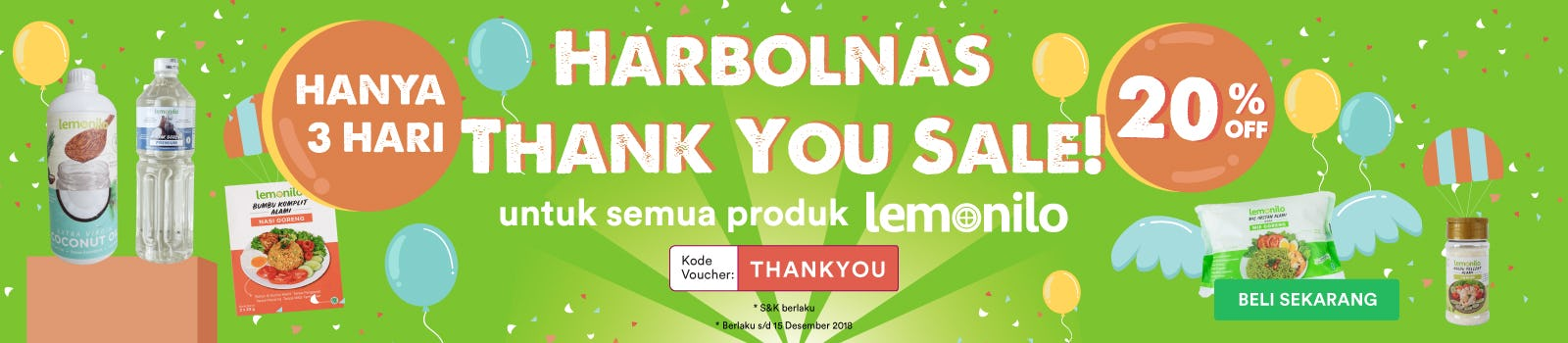 Harbolnas Thank You Sale