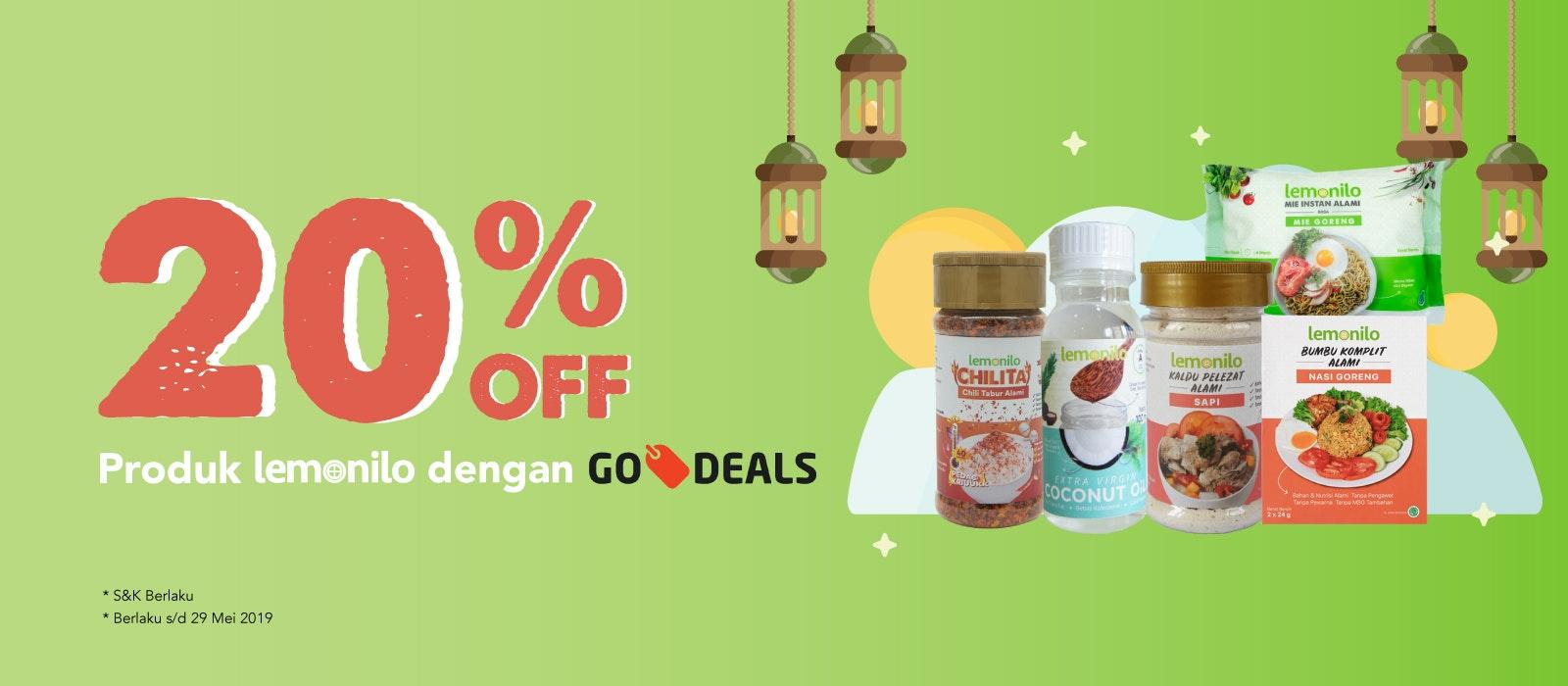 20% OFF Produk Lemonilo dengan Go-Deals