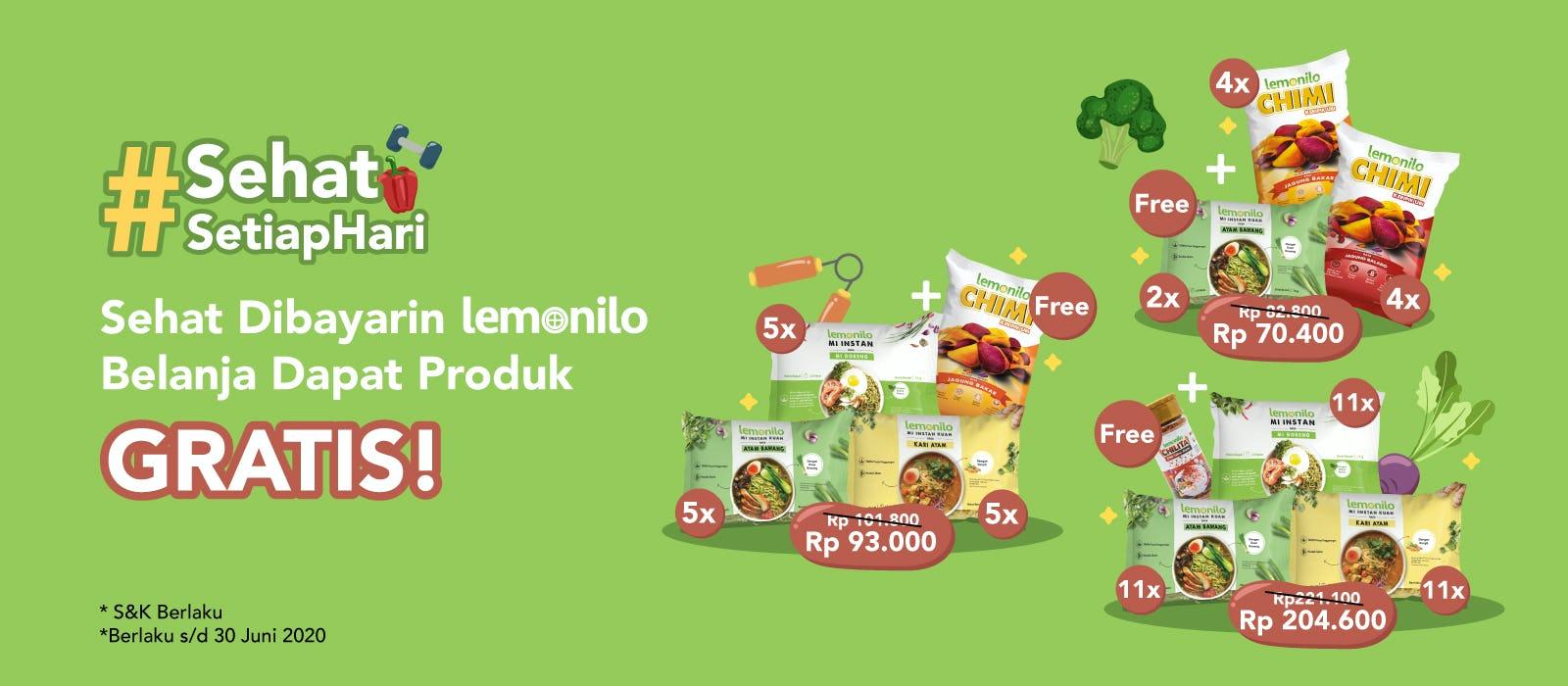 Sehat Dibayarin Lemonilo, Belanja Dapat Produk GRATIS!
