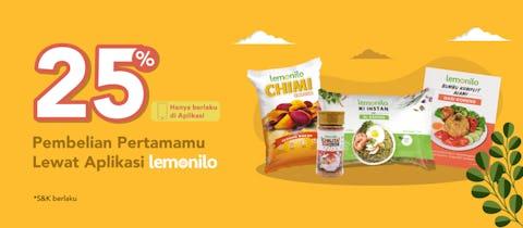 25% OFF dengan Lemonilo App