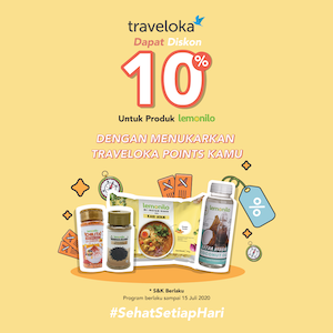 10% OFF Produk Lemonilo dengan Traveloka Points