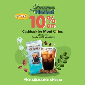 Spesial Khusus Cold Brew! Extra Cashback 10%