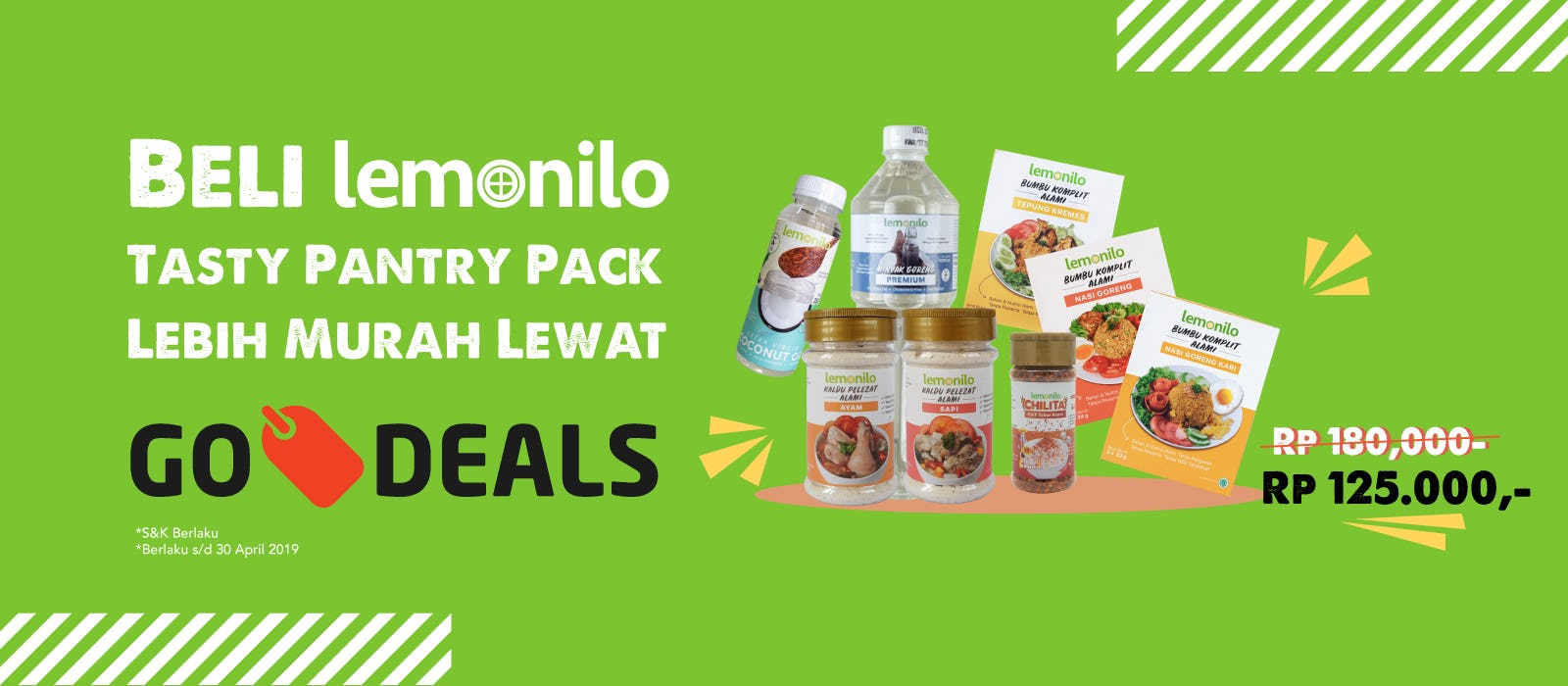 Lemonilo Tasty Pantry Pack Harga Spesial Lewat Go-Deals