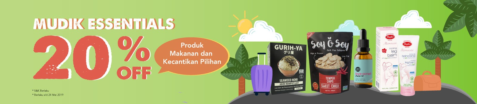 Mudik Essentials 20% OFF