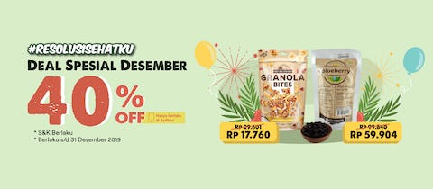 Deal Spesial Desember 40% OFF