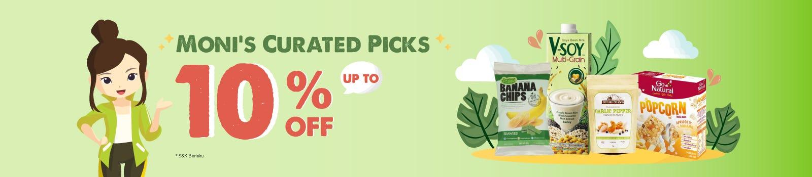 Moni's Curated Picks Up To 10% OFF