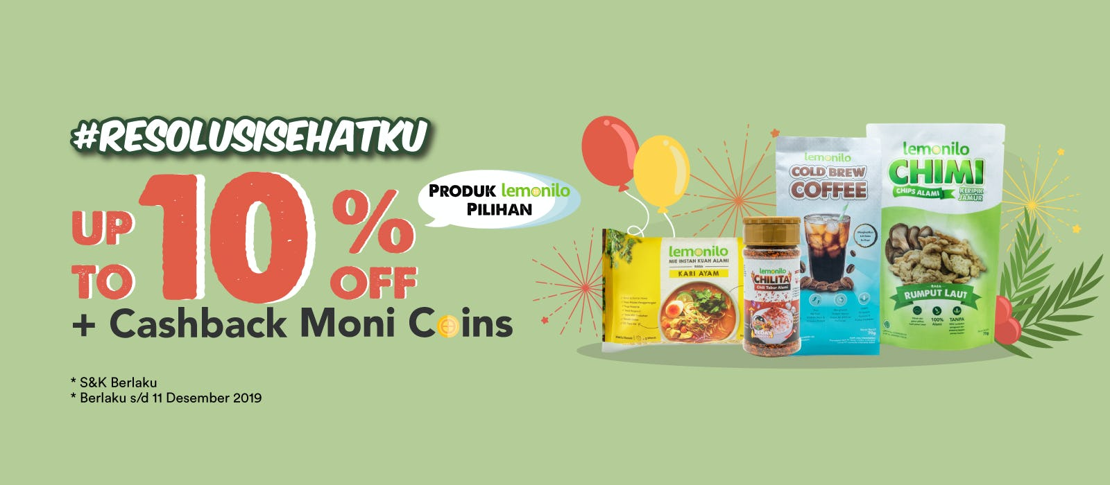 Produk Lemonilo Up To 10% OFF + Cashback