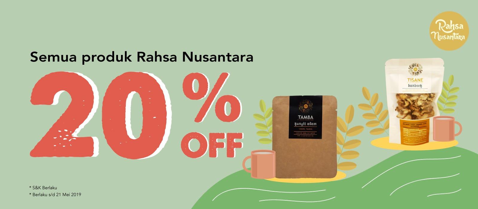 Rahsa Nusantara 20% OFF Semua Produk