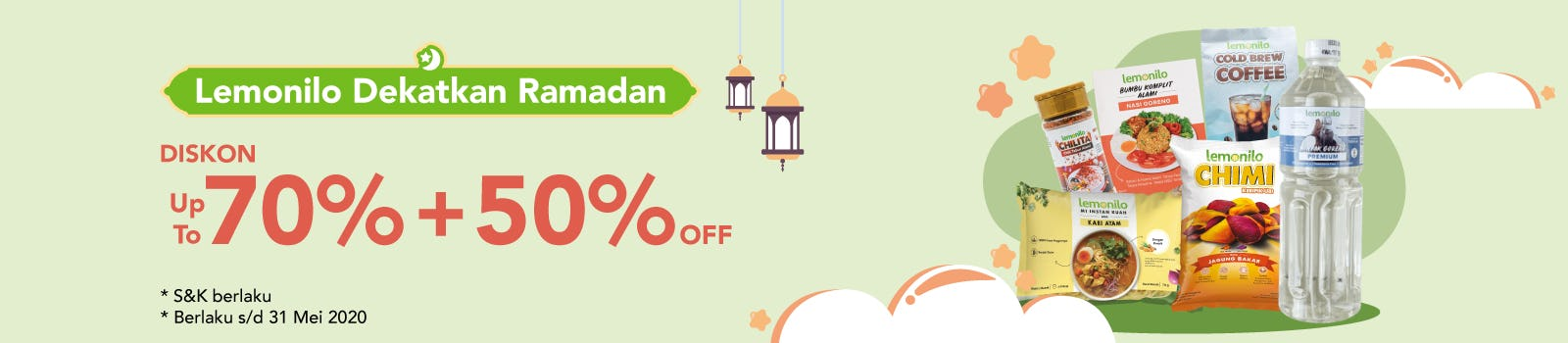 #DekatkanRamadan Up To 70% + 50% OFF