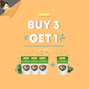 Sunkrisps Gomashio Kale Flakes Buy 3 Get 1