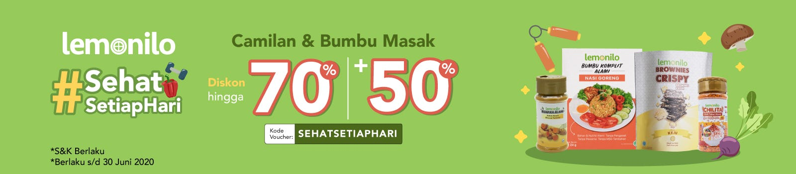 #SehatSetiapHari Diskon Up To 70% + 50% OFF