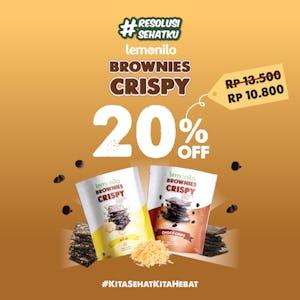 Lemonilo Brownies Crispy 20% OFF