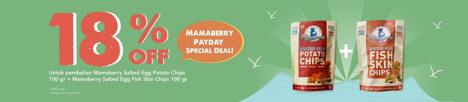 Mamaberry Payday Special Deal 18% OFF