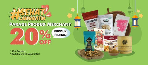 Parade Produk Merchant Up To 20% OFF