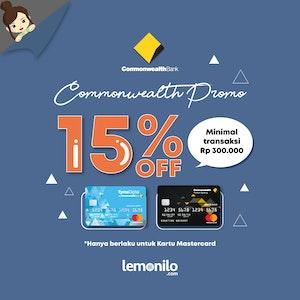 15% OFF dengan Commonwealth Bank