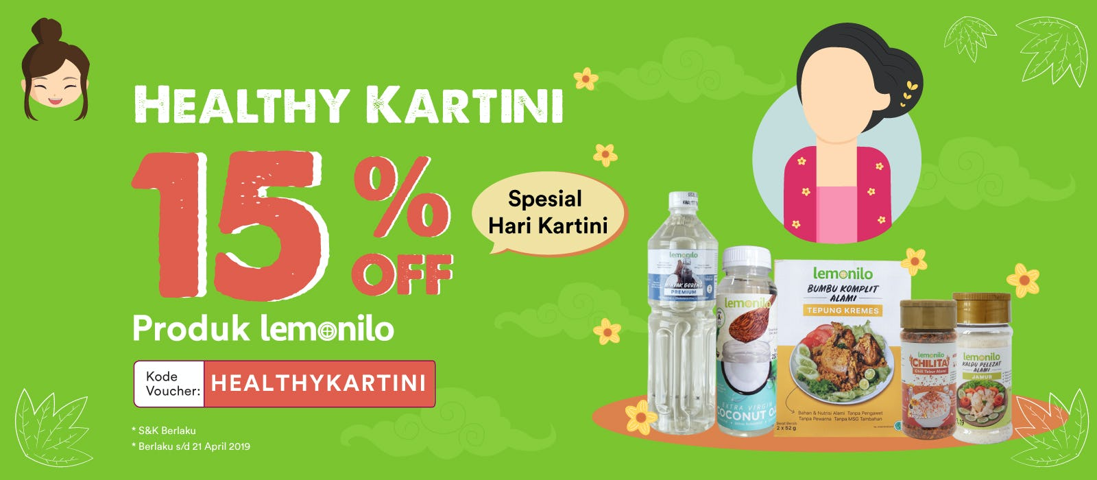 Lemonilo Healthy Kartini 15% OFF
