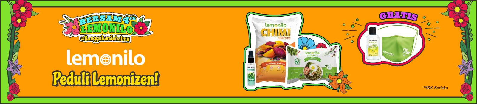 Lemonilo Peduli Lemonizen! Masker & Hand Sanitizer GRATIS