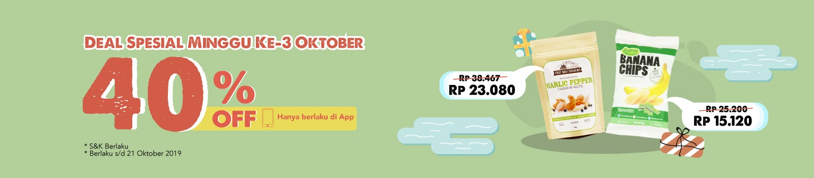 Deal Spesial W3 Oktober 40% OFF