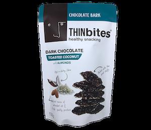 Vel Moriz Thin Bites Dark Chocolate Toasted Coconut 130 gr
