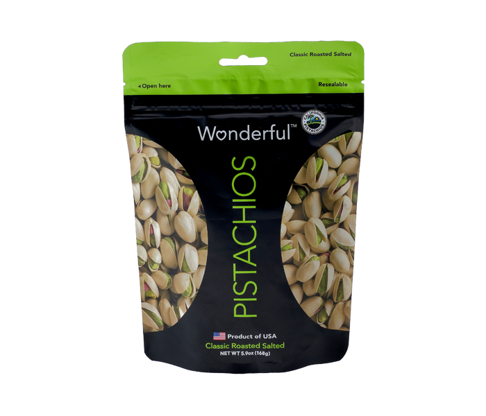 Wonderful Classic Roasted Salted Pistachios 454 gr
