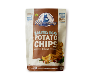 Mamaberry Salted Egg Potato Chips Original 100 gr