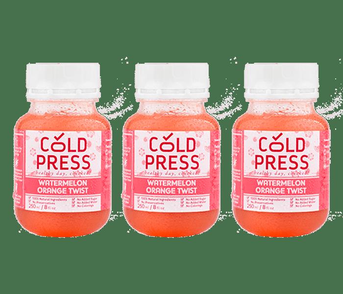 Jual Cold Press Watermelon Orange Twist Daily Juice Pack of 3 hanya di Lemonilo.com