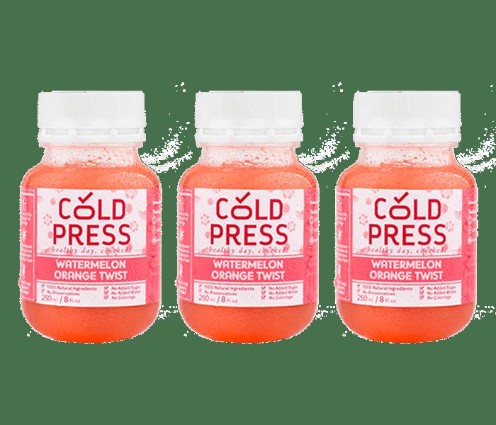 Cold Press Watermelon Orange Twist Daily Juice Pack of 3