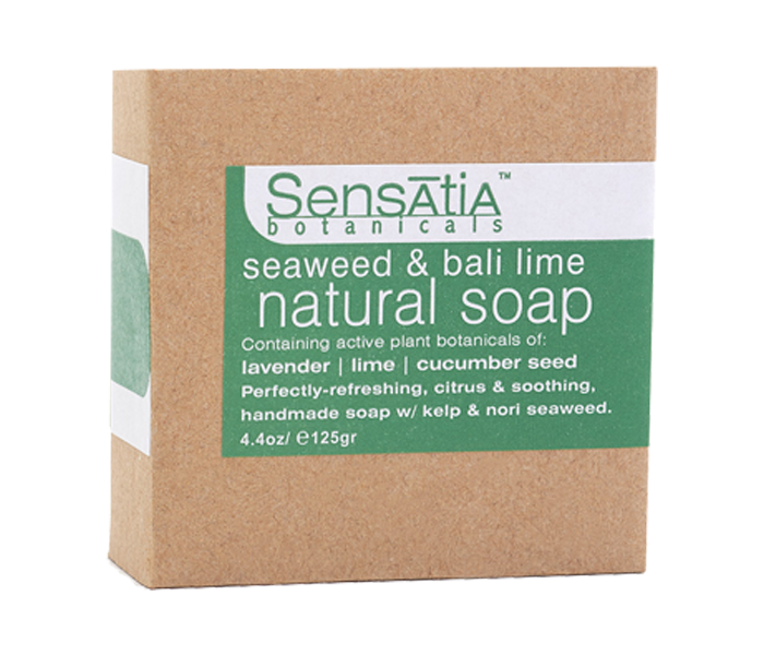 Sensatia Botanicals Bar Soap Natural Seaweed & Bali Lime 125 gr