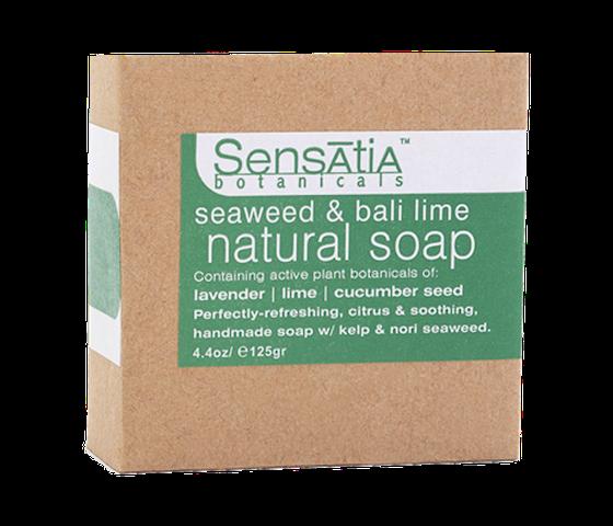 Sensatia Botanicals Bar Soap Natural Seaweed & Bali Lime 125 gr