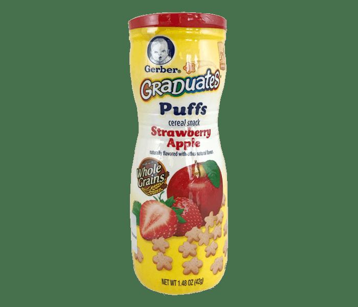 Gerber Graduates Puffs Sereal Strawberry Apel