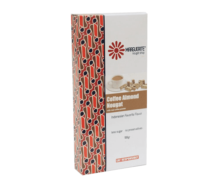 Marguerite Coffee Almond Nougat 125 gr
