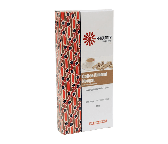 Marguerite Coffee Almond Nougat 200 gr
