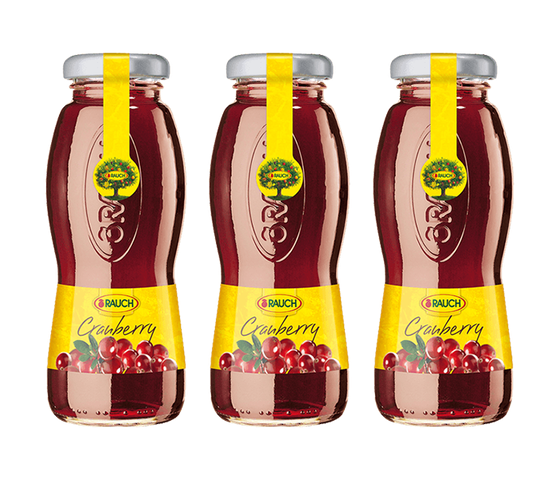 Rauch Cranberry Juice 200 ml (Pack of 3)