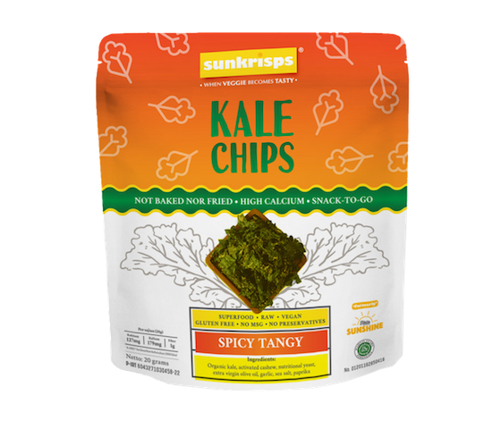 Sunkrisps Kale Chips Spicy Tangy