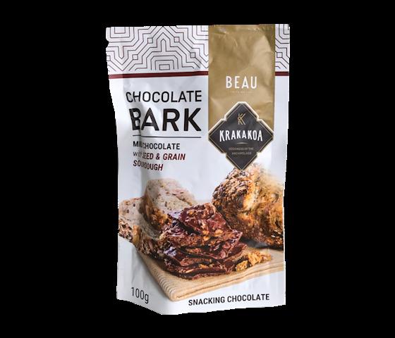 Krakakoa Chocolate Bark Milk Chocolate with Seed & Grain Sourdough 100 gr